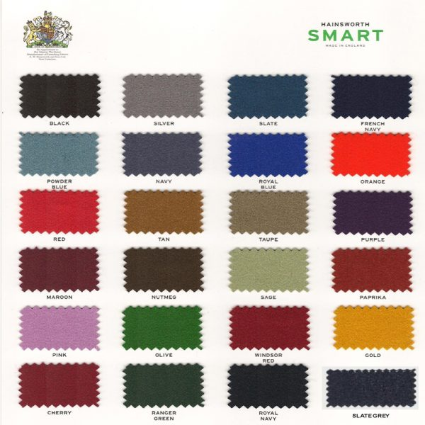 Kit Tapis Snooker Hainsworth Smart 9ft Olive