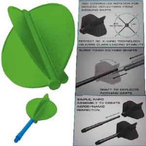 Ailette (3) Stealth vert poire