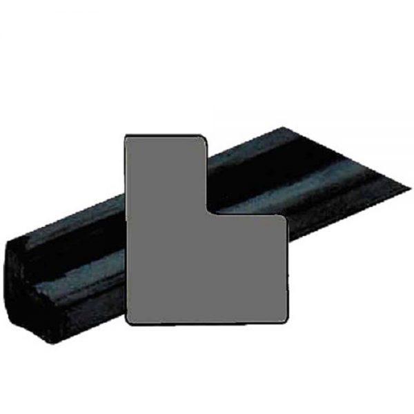 Caoutchouc noir en  L – la longueur 0.90m – 22mm*19mm