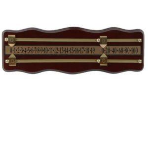Compteur snooker mahogany 2-pers