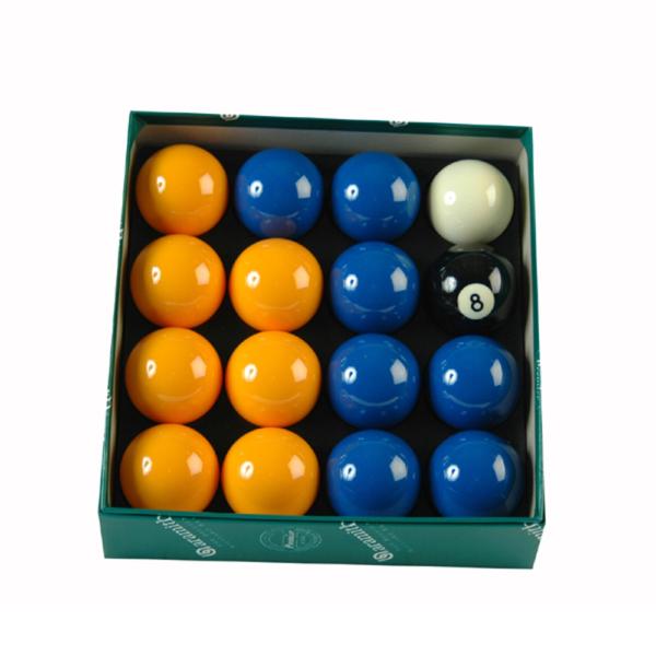 Jeu anglais aramith 50,8mm 7 bleues/7 jaunes