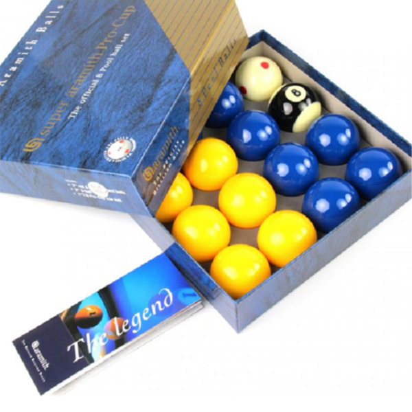 Jeu anglais Super aramith Pro-Cup 7 jaunes/7 bleues  50,8mm