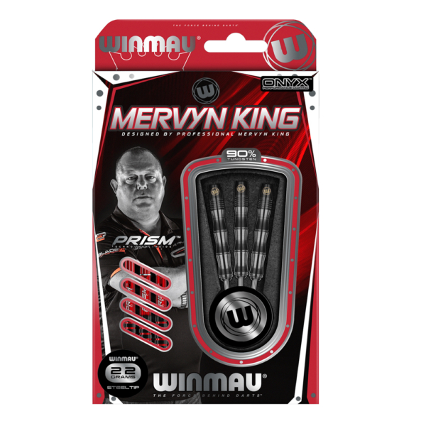 Jeu acier Winmau Mervin King Onyx Coating 90% tgs 22g