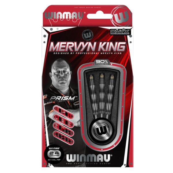 Jeu acier Winmau Mervin King Onyx Coating 90% tgs 24g