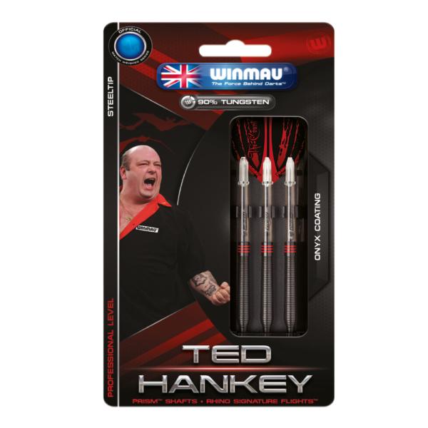 Jeu acier Winmau Ted Hankey Onyx Coating 90% tgs 24g