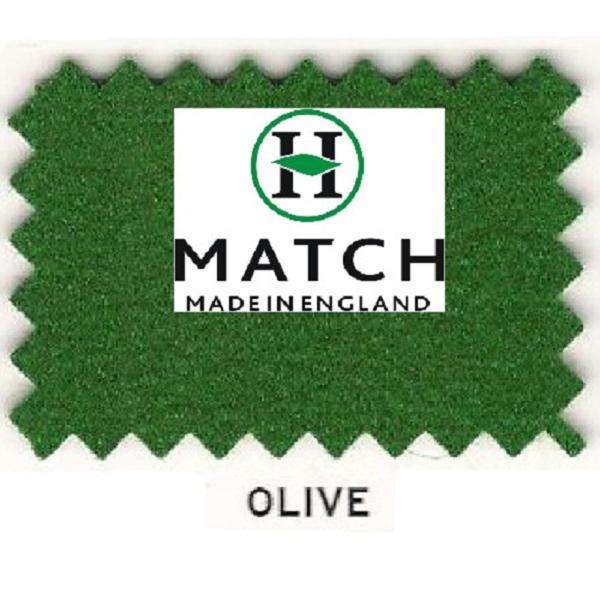 Kit Tapis Snooker Hainsworth Match 12ft Olive
