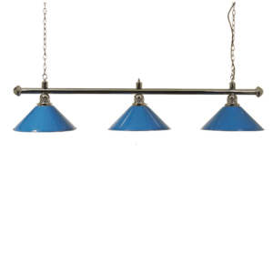 Lampe Chrome 3 cônes bleus 150cm