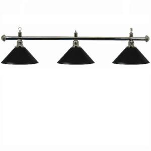 Lampe Chrome 3 cônes noir 150cm