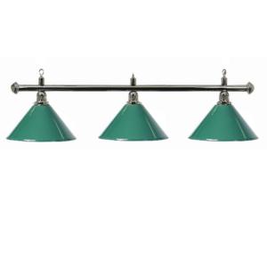 Lampe Chrome 3 cônes vert 150cm
