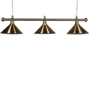 Lampe Cuivre brossé 3 cônes cuivres brossés 150cm