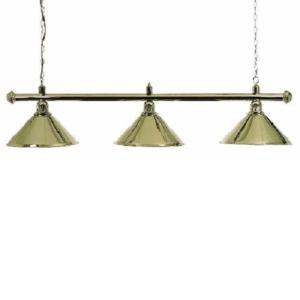 Lampe Laiton 3 cônes laitons 150cm