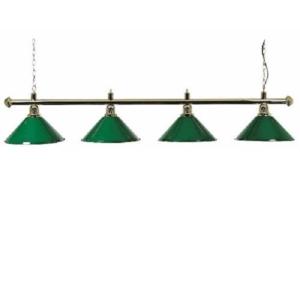 Lampe Laiton 4 cônes verts180cm