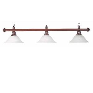 Lampe Marron 3 opalines opaque 150cm