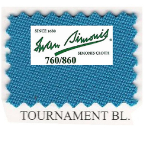 Tapis Simonis 760/195 Tournament Blue – Le mètre