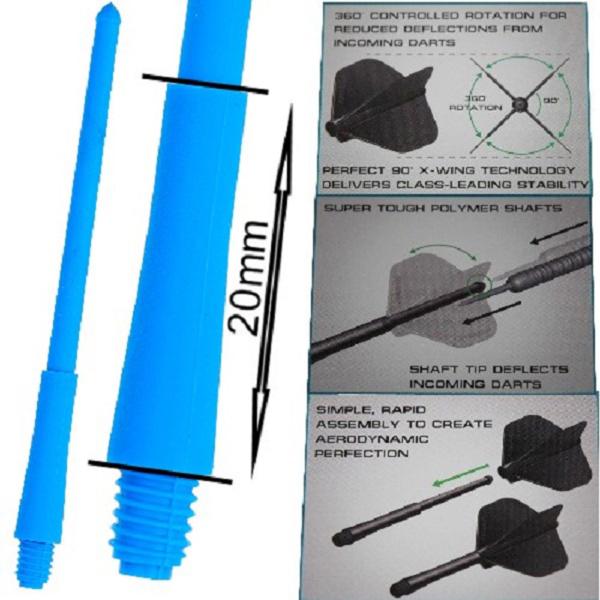 Tige (3) Stealth bleue short (20mm)