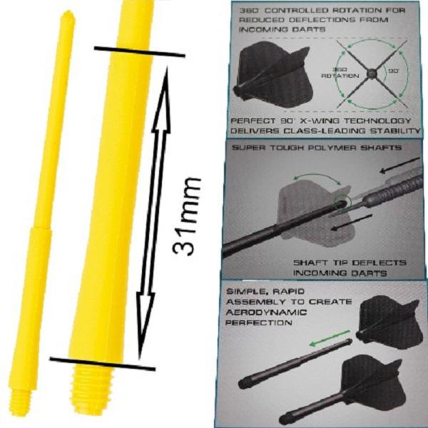 Tige (3) Stealth jaune medium (31mm)