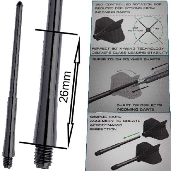 Tige (3) Stealth noire intermediate (26mm)