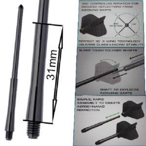 Tige (3) Stealth noire medium (31mm)