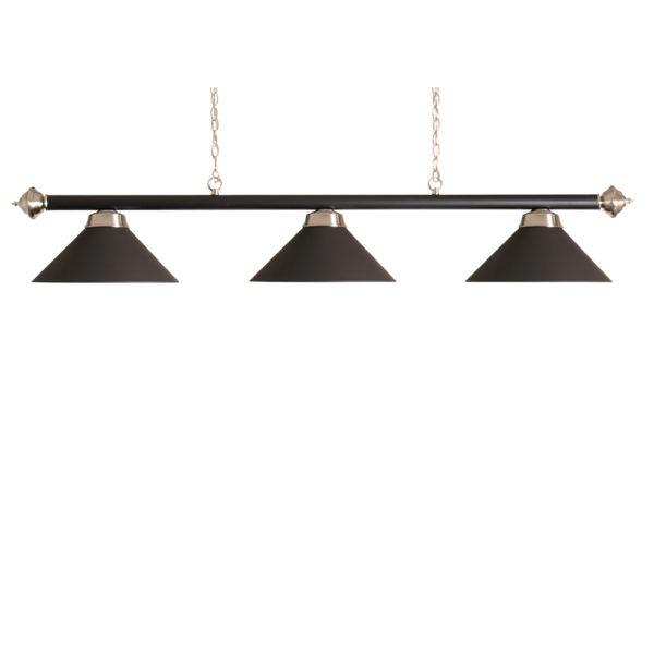 Lampe Noir mat  3 cônes noir mats 150cm