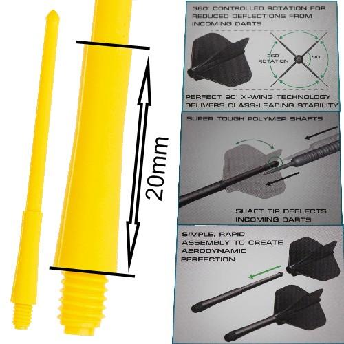 Tige (3) Stealth jaune short (20mm)