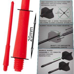Tige (3) Stealth rouge short (20mm)