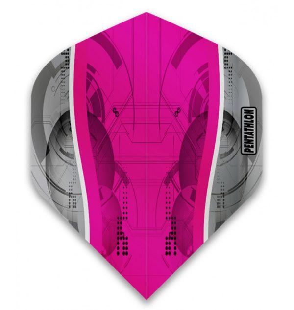Ailette (3) Pentathlon Silver Edge magenta large – Les 3 jeux