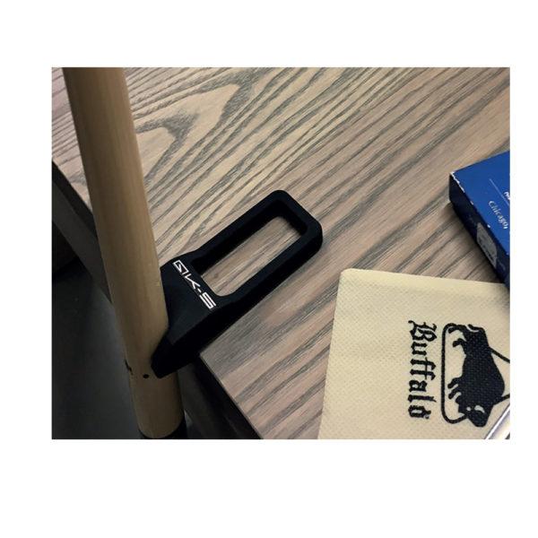 Support 1 queue noir à poser table
