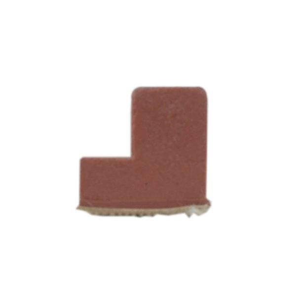 Caoutchouc rouge Anglais 7ft en L – Longueur 0,94 cm – 16mm*16mm
