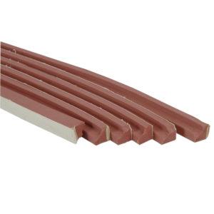 Caoutchouc rouge Anglais 7ft en L (16mm*16mm) – le jeu de 6 longueurs 0,94m