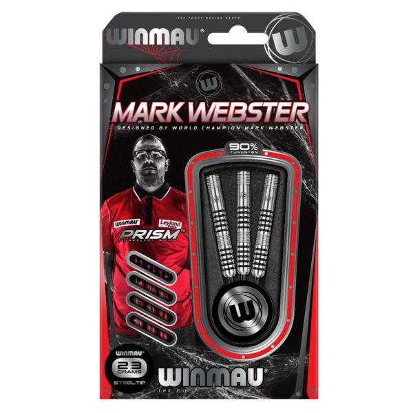 Jeu acier Winmau Mark Webster 90% tgs 23g