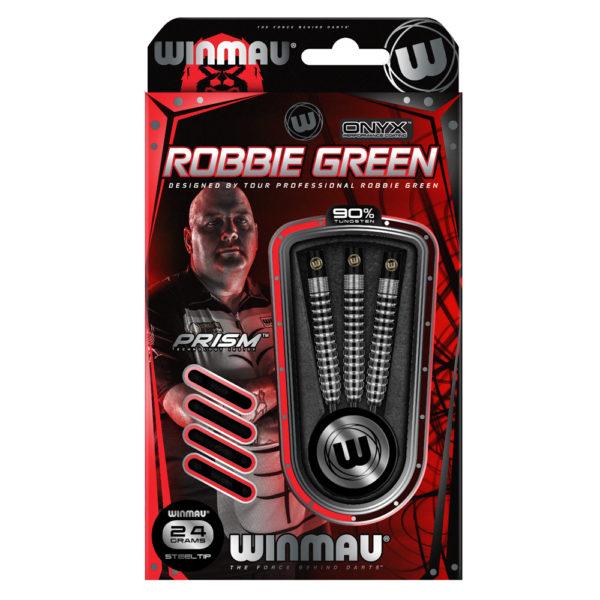 Jeu acier Winmau Robbie Green Onyx Coating 90% tgs 24g