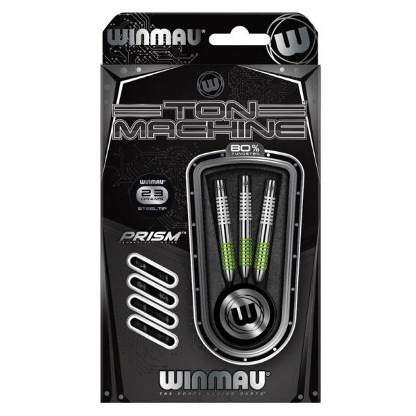 Jeu acier Winmau Ton Machine Green 80% tgs 23grs