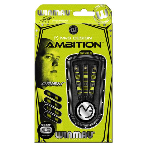Jeu nylon Winmau MvG Ambition brass 20g