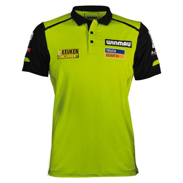 Polo Winmau Michael Van Gerwen green/black XL