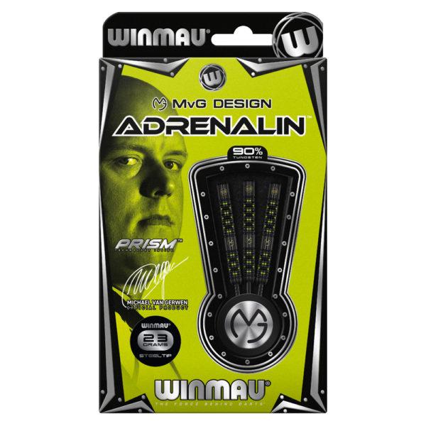 Jeu acier Winmau MvG Adrenalin 90% tgs 23g