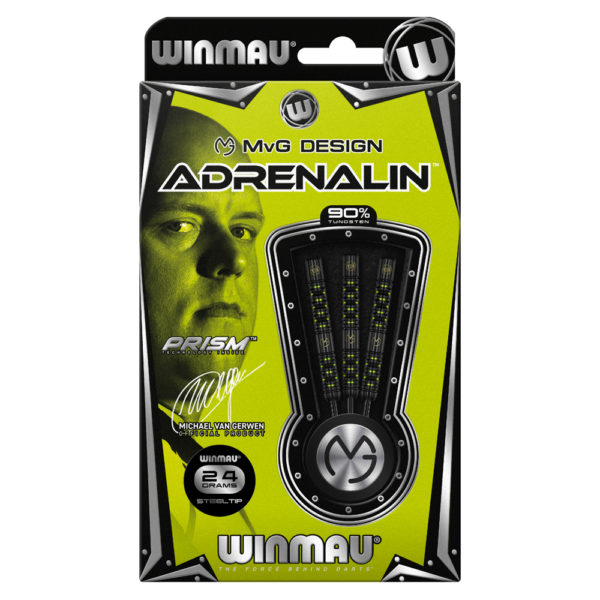 Jeu acier Winmau MvG Adrenalin 90% tgs 24g