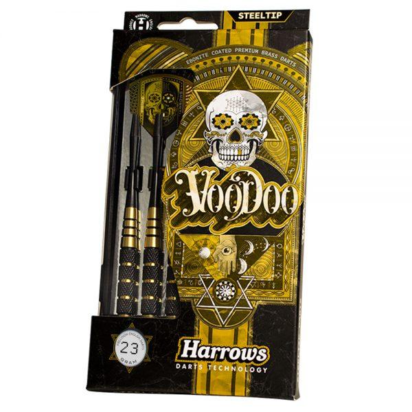 Jeu acier Harrows Voodoo Ebonite Coated 23gK