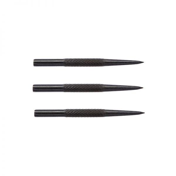 Pointes (3) acier knurled noires 32mm
