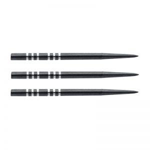 Pointes (3) acier re-grooved noire 41mm