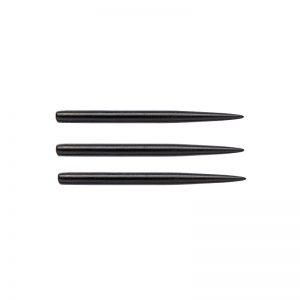 Pointes (3) acier noire 32mm